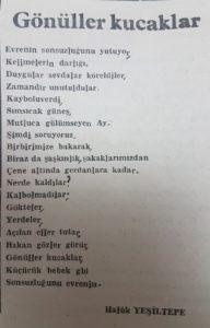 Gönüller Kucaklar Giresun İleri Gazetesi 17 Kasım 1984
